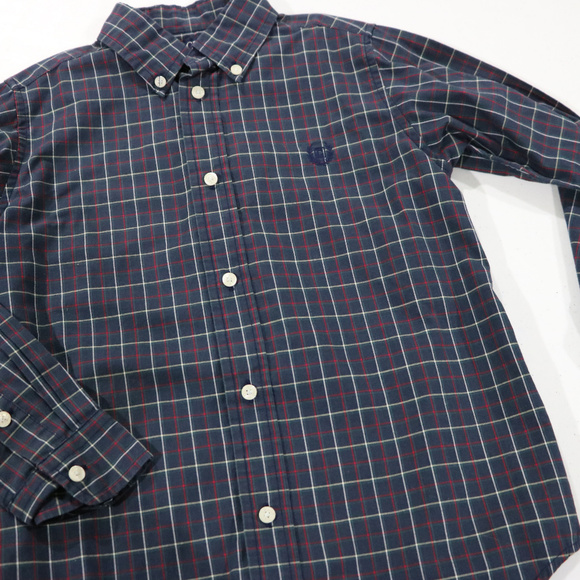 Chaps Other - Chaps Blue Plaid Long Sleeve Dress Shirt 7 in Boys